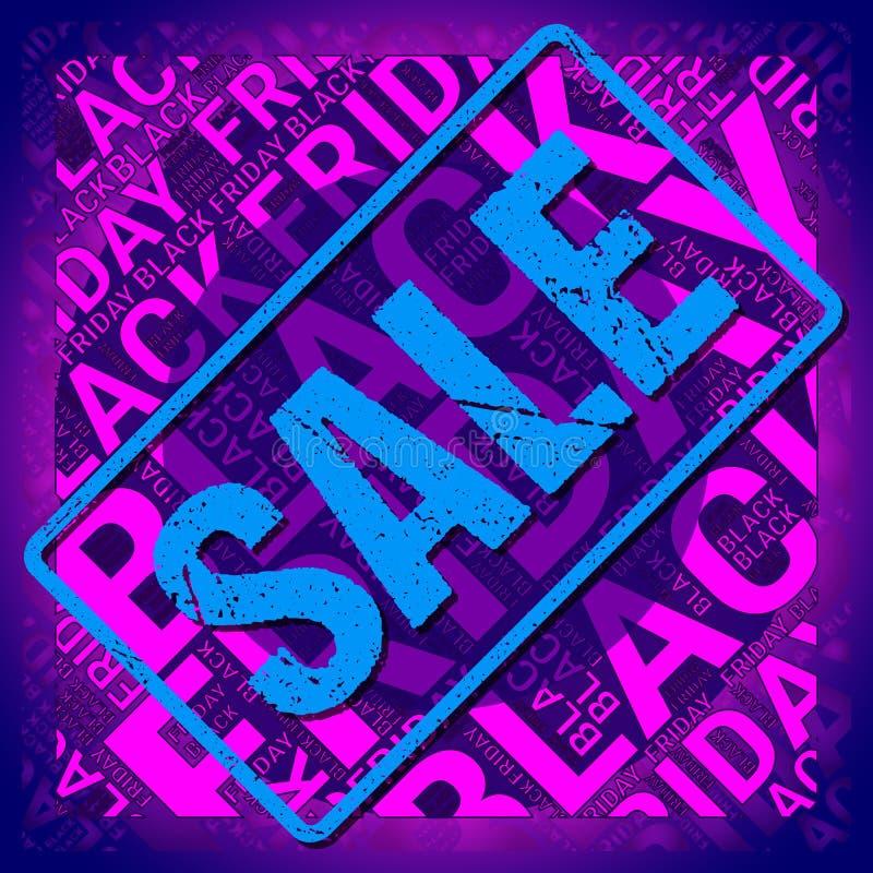 Black Friday Wordcloud Nuage des textes Concept de typographie Illustration de vecteur images libres de droits