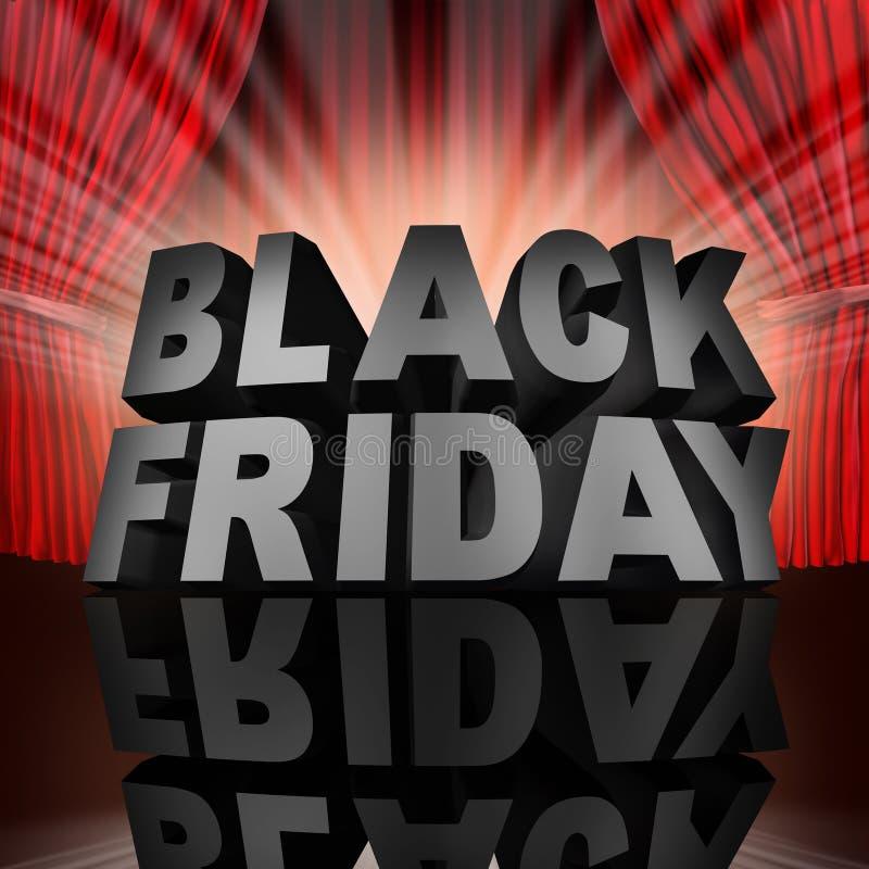Black Friday wydarzenie ilustracja wektor