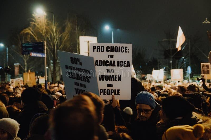 Black Friday - Zwart Protest, Polen royalty-vrije stock foto's