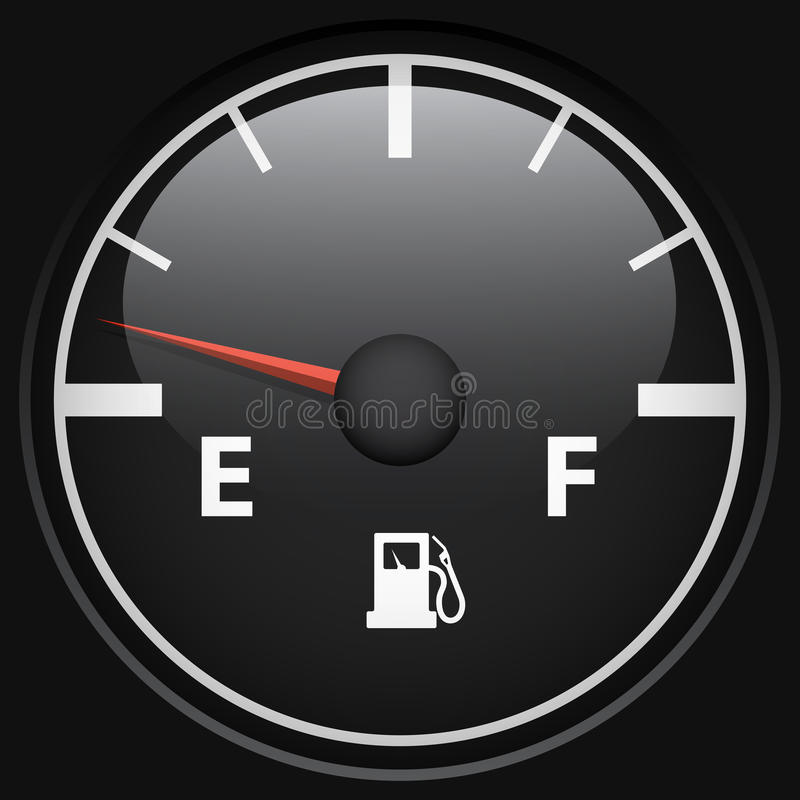 Download Black fuel gage stock vector. Image of diesel, isolated - 30557600