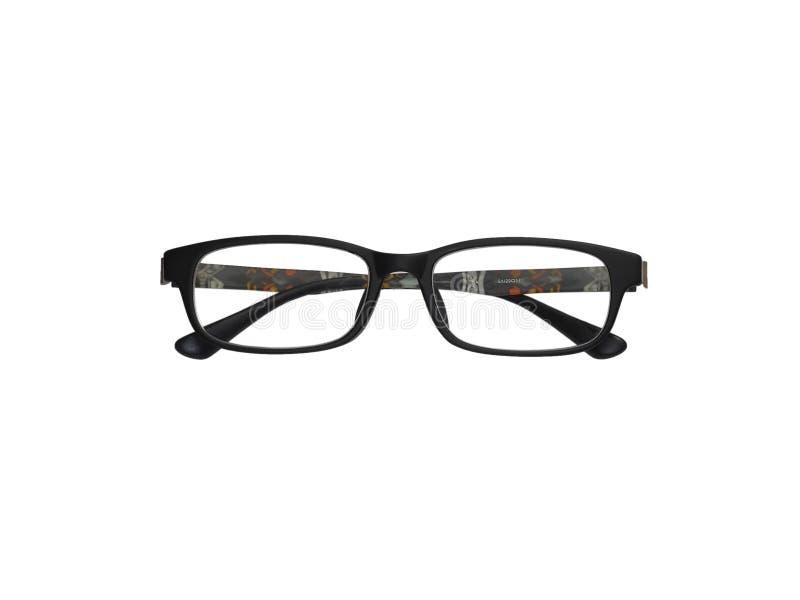 Black Full Frame Glasses Isolation On White Stock Photo - Image of ...