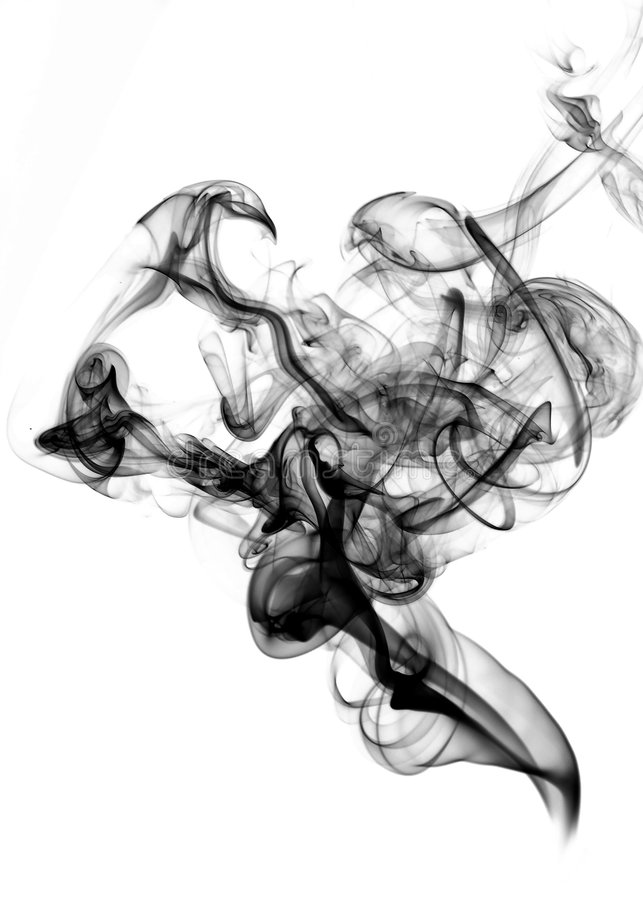 Download Black fume on the white stock image. Image of ideas, smoke - 9325419