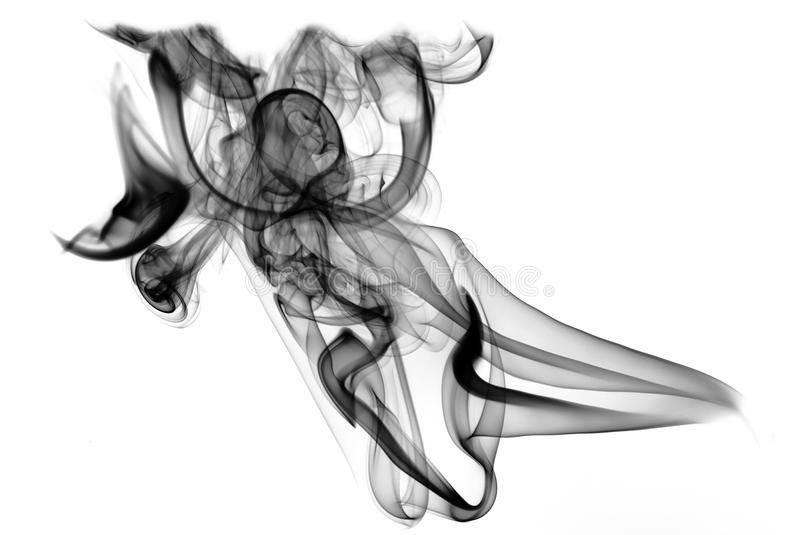 Download Black Fume On The White Background Stock Image - Image: 10156821