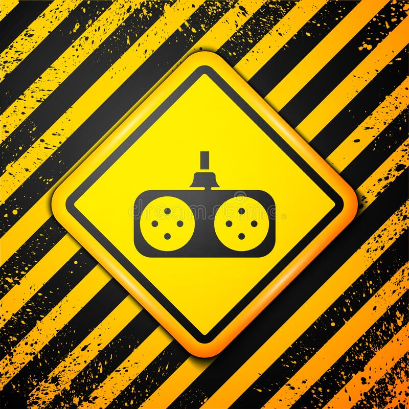 Free Black Gamepad Icon Isolated On Yellow Background. Game Controller. Warning Sign. Vector Illustration Stock Images - 189199324