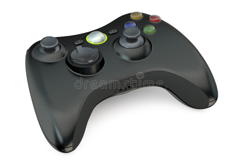 Black Gamepad. Isolated on white background royalty free illustration