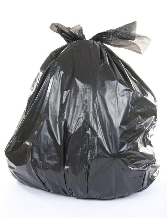 Black garbage bag royalty free stock images