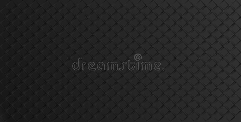 Black geometric abstract background with rhombuses, tile pattern. Vector. Illustration vector illustration
