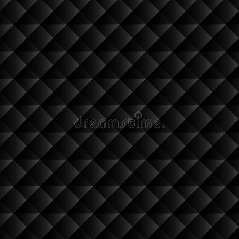 Black geometric background for website decoration, banner, leaflet, top cover, packaging. royalty free illustration
