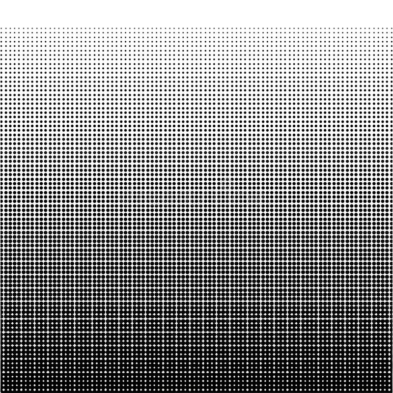 Black geometric halftone. Gradient texture on white background. Retro abstract decoration. Vintage wallpaper. EPS 10 royalty free stock images