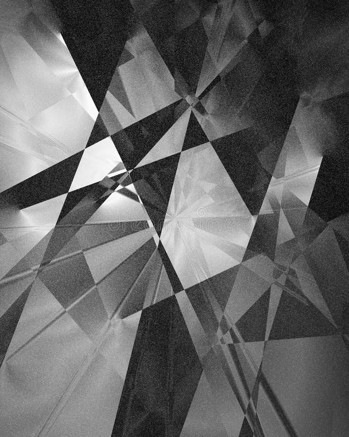 Black geometric pattern royalty free illustration