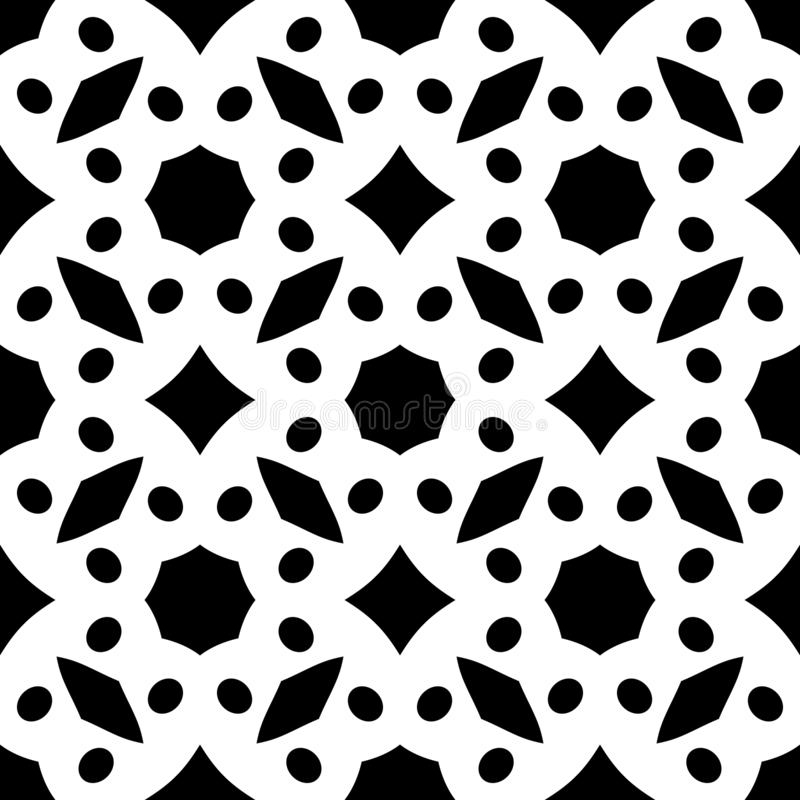Black Geometric Seamless diamond triangles circles pattern in white background vector illustrations. vector illustration