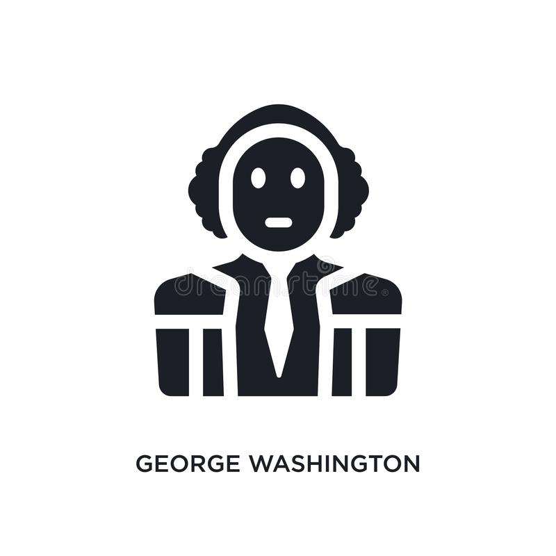 black george washington isolated vector icon. simple element illustration from united states concept vector icons. george vector illustration