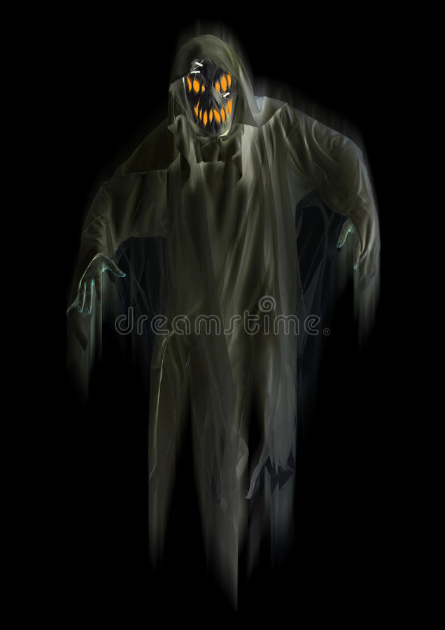 Download Black Ghost isolated stock illustration. Image of apparition - 35249150