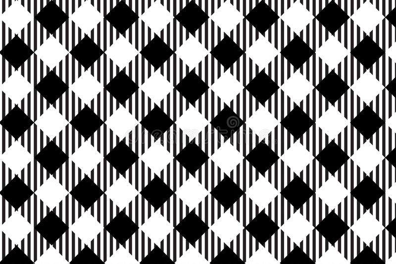 Black gingham pattern background.Texture from rhombus.Vector illustration.EPS-10 stock illustration