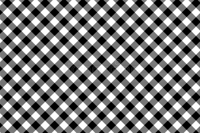 Black Gingham pattern. Texture from rhombus/squares for - plaid, tablecloths, clothes, shirts, dresses, paper, bedding, blankets, royalty free illustration
