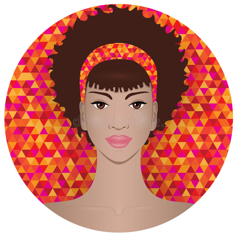 black girl pretty бесплатная иллюстрация