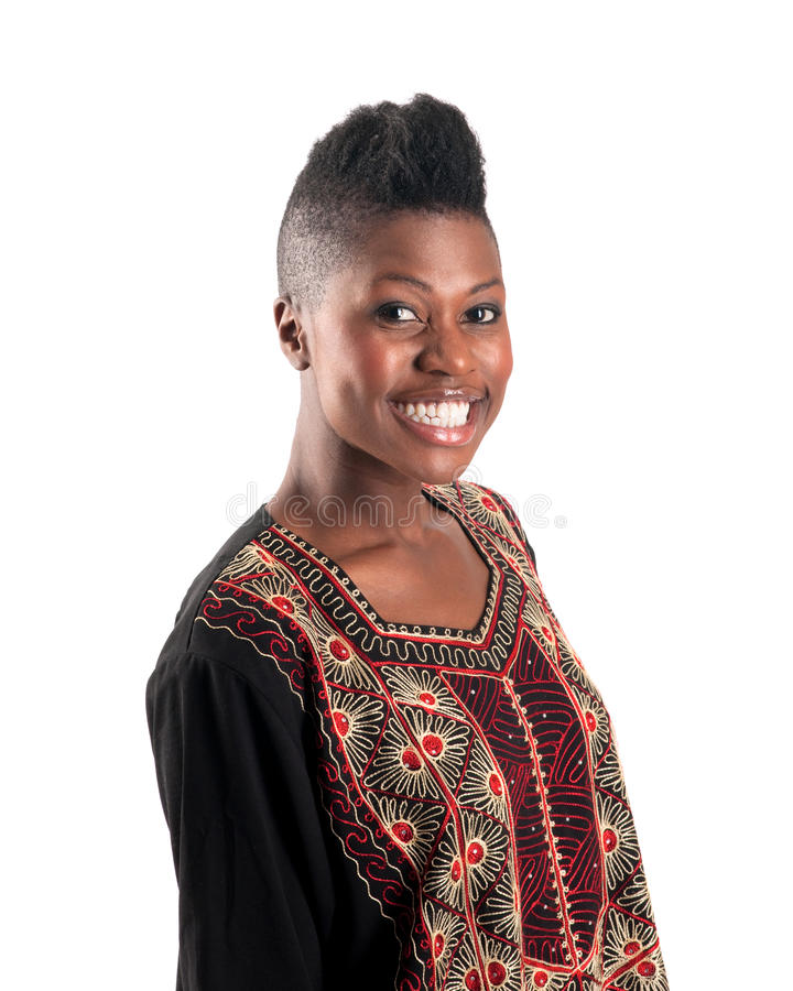 Download Black girl with warm smile stock image. Image of person - 13891721