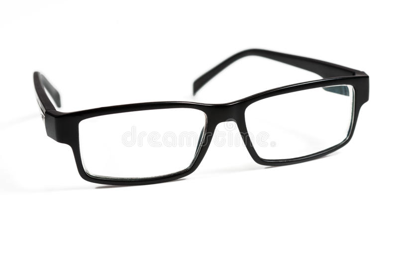Download Black glasses on white stock image. Image of front, crystal - 30735465