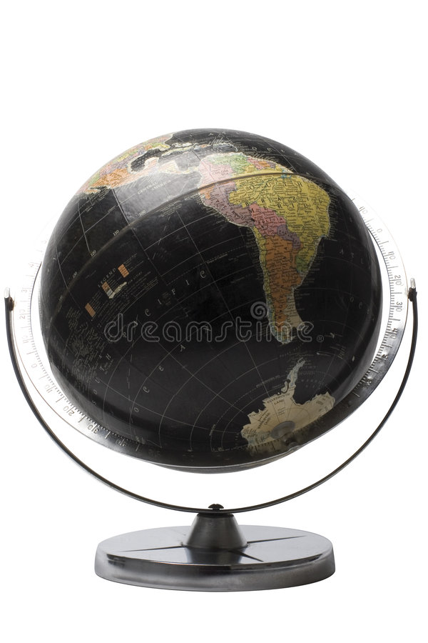 Black globe - Afrique. Terrestrial globe in black color showing the african continent stock photos