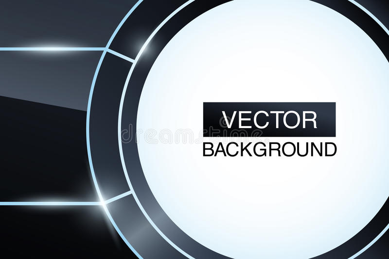 Black Glossy Abstract Background. Futuristic Stock Photo