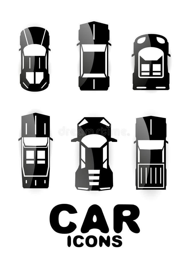 Download Black Glossy Car Icon Set Royalty Free Stock Photos - Image: 31308868