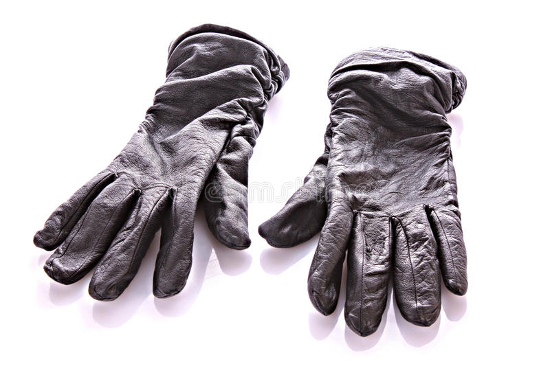 Download Black gloves isolated stock photo. Image of isolated - 12388804