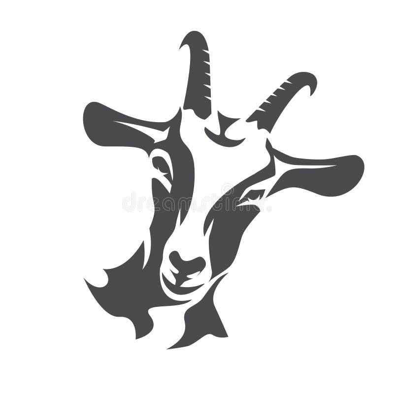 Free Black Goat Face Stylized Vector Symbol Royalty Free Stock Photo - 112885175