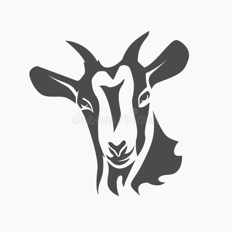 Free Black Goat Face Stylized Vector Symbol Stock Image - 112885181