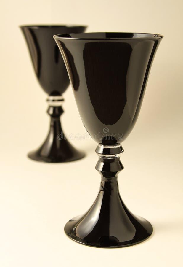 Black Goblets Stock Image