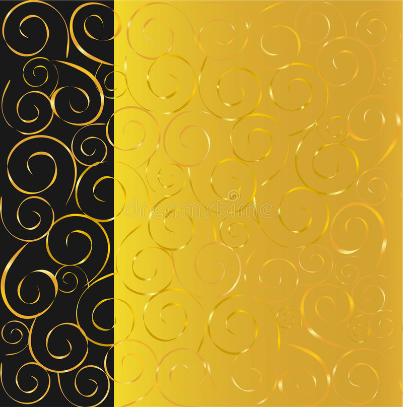 Download Black and gold background stock vector. Image of glamour - 12001477