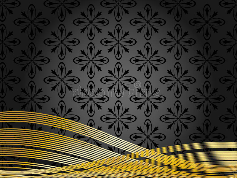 Download Black and gold background stock vector. Image of texture - 16347698