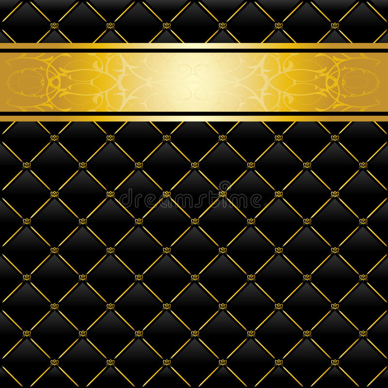 Download Black and gold background stock vector. Image of golden - 16547842