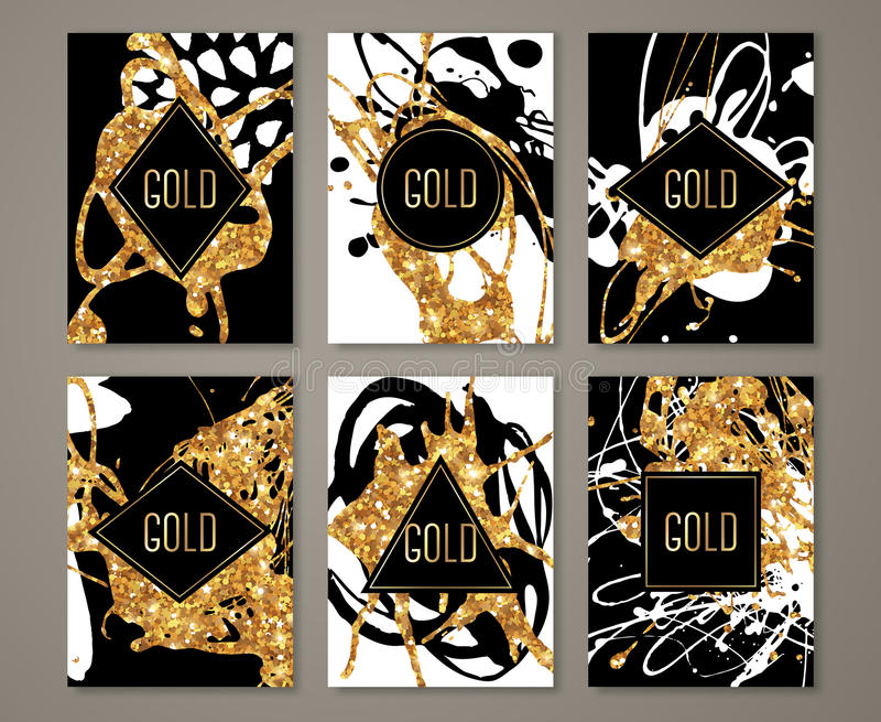 Black and gold banners set stock vector illustration of card 72120618 download black and gold banners set stock vector illustration of card 72120618 stopboris Gallery