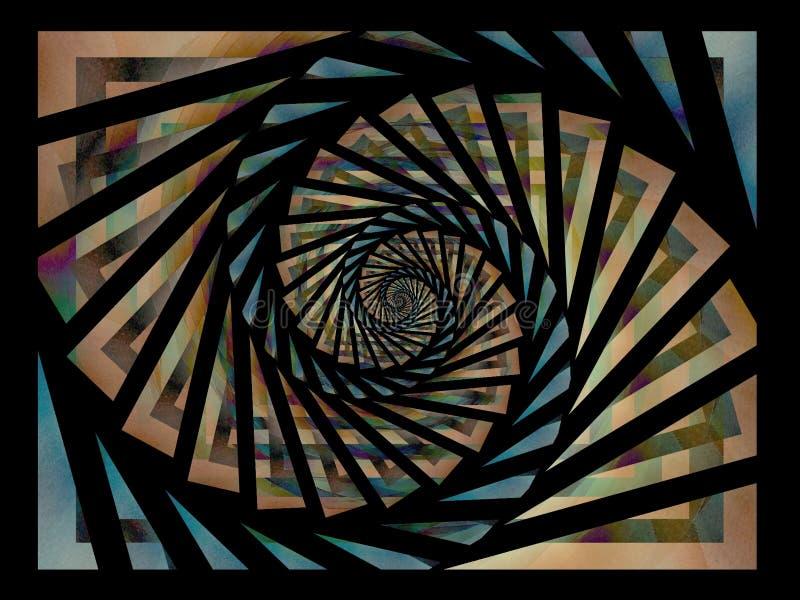 Download Black Gold Blue Spiral Pattern Stock Image - Image: 1983151