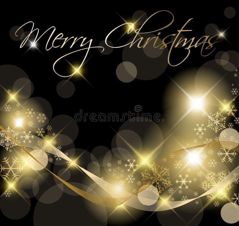 Black and Golden Christmas background stock illustration