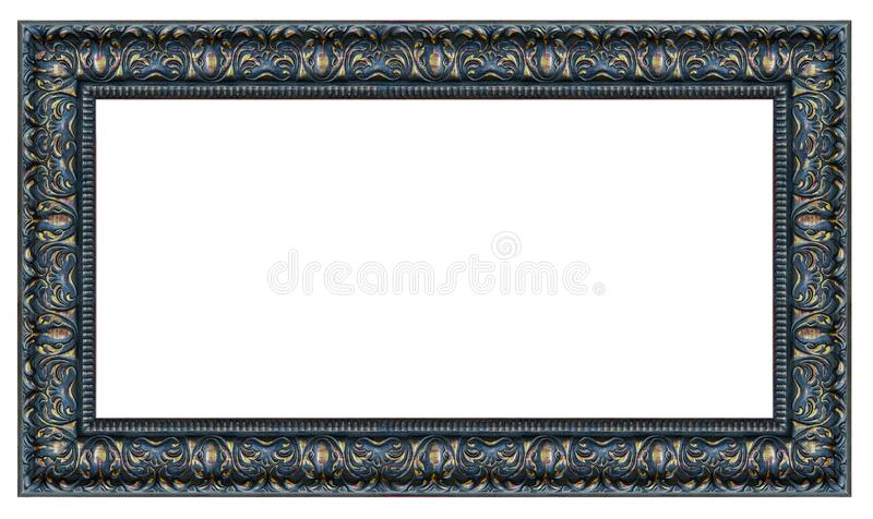 Black and golden rectangle vintage frame royalty free stock photo