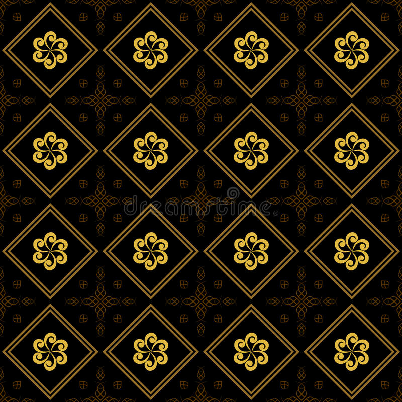 Download Black And Golden Vector Texture With Rhombuses Stock Vector - Image: 18942426