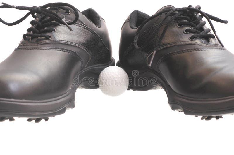 Black Golf Shoes Stock Photo