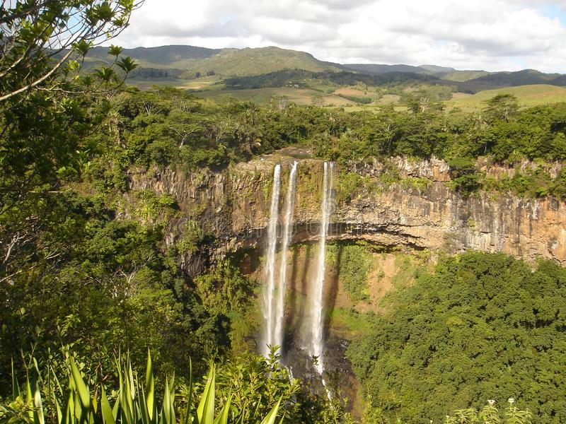 Black Gorges in Mauritius island stock photography