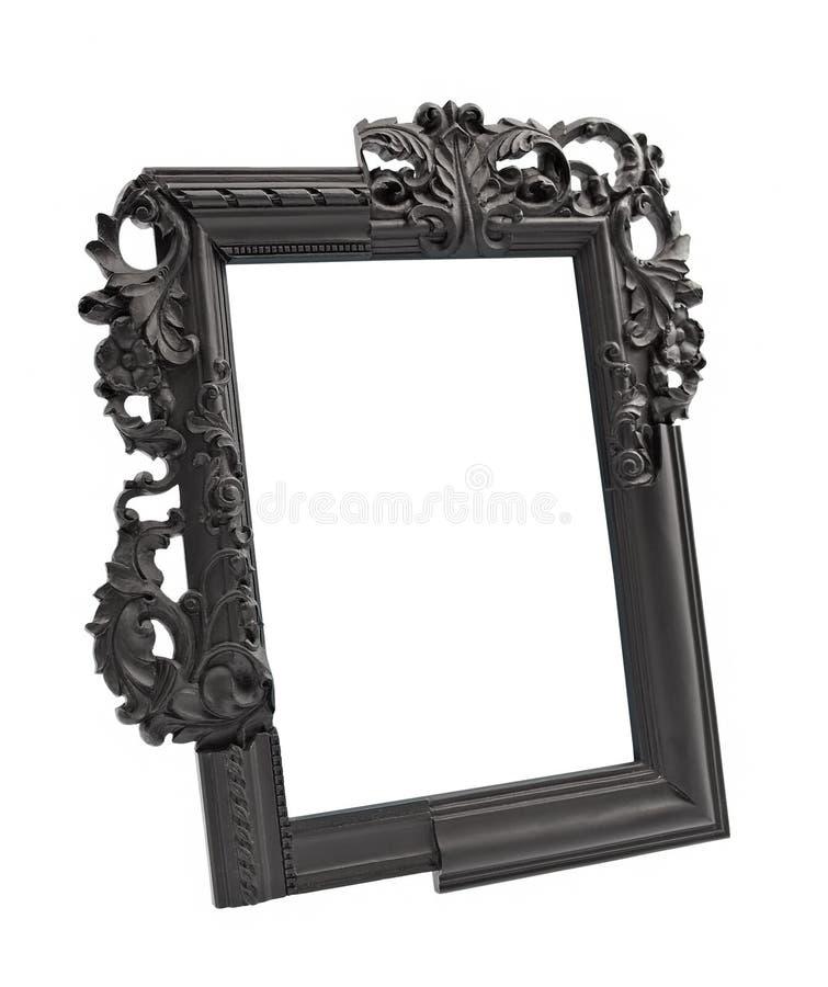 Black gothic vintage frame. Isolated stock image