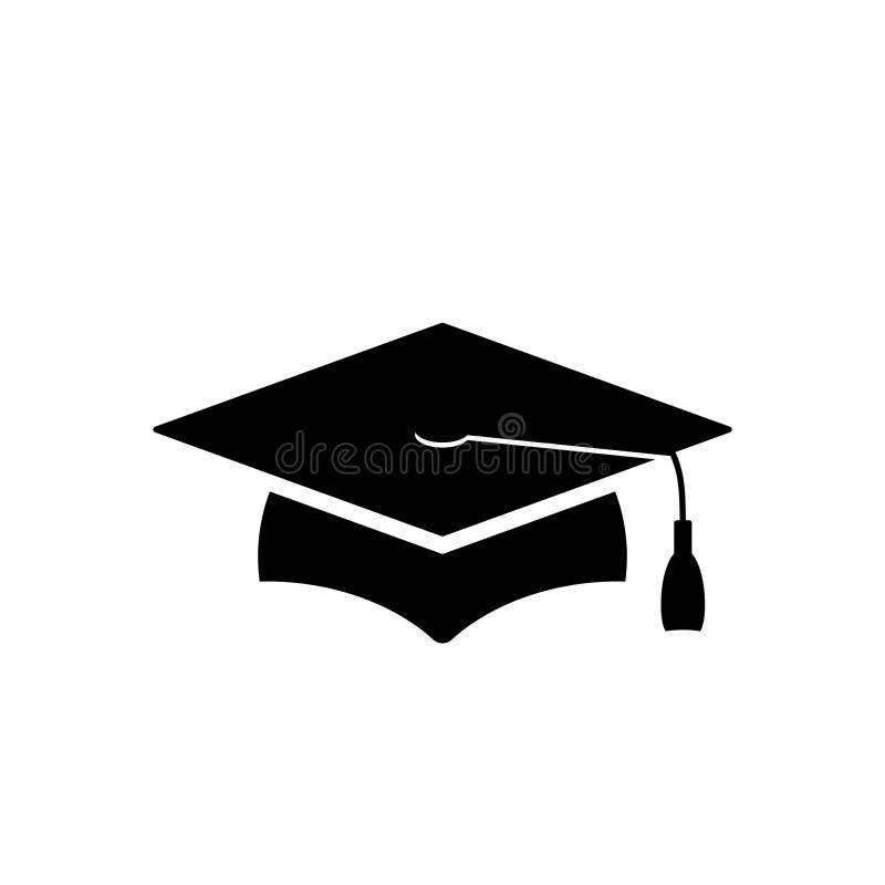 Free Black Grad Cap Icon Royalty Free Stock Images - 203604249