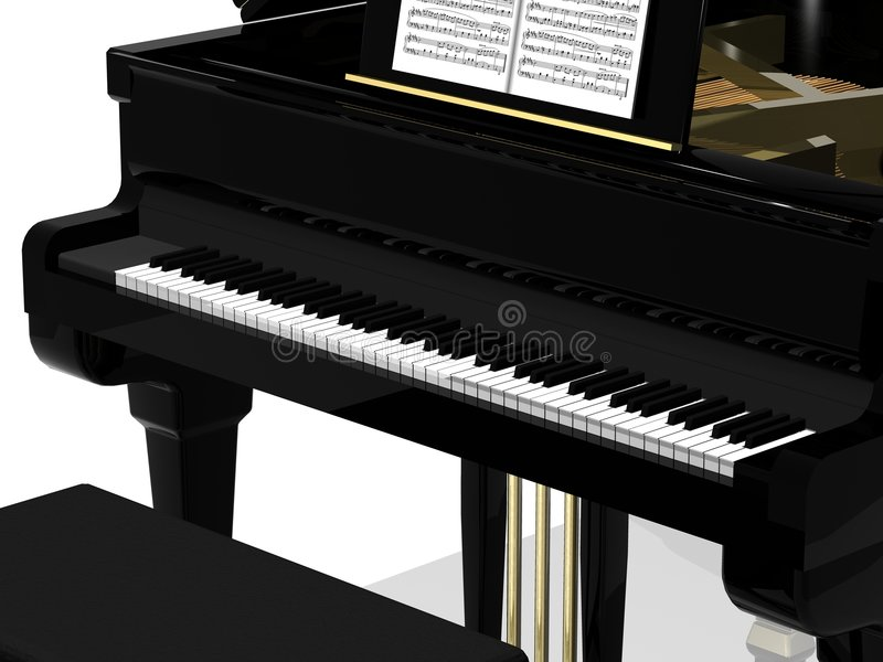 Black grand piano stock illustration