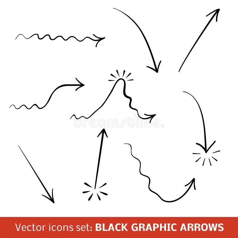 Download Black Graphic Arrows Set. Vector Illustration Stock Vector - Image: 31982763