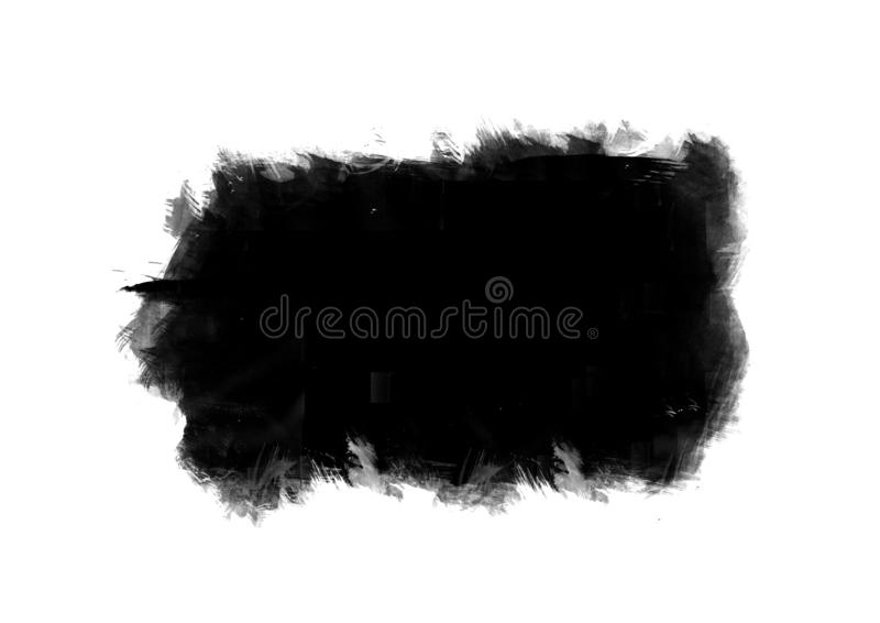 Black graphic color patches brush strokes effect background designs element. Black color graphic patches brush strokes effect for background designs element stock images