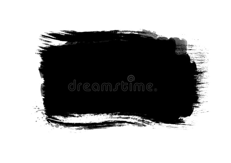Color patches graphic brush strokes design effect element for ba. Black graphic color patches brush strokes effect background designs element royalty free stock images