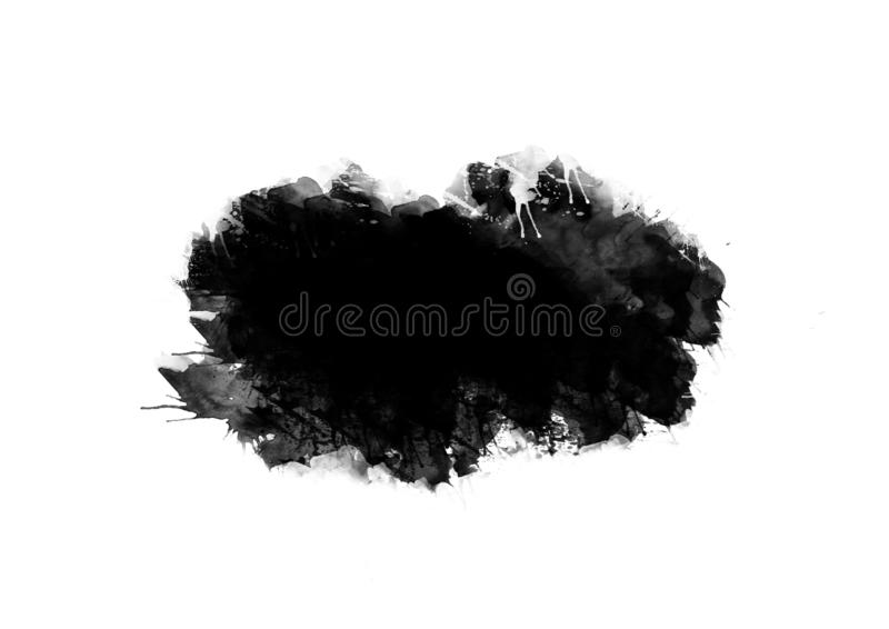 Color patches graphic brush strokes design effect element for background. Black graphic color patches brush strokes effect background designs element stock illustration