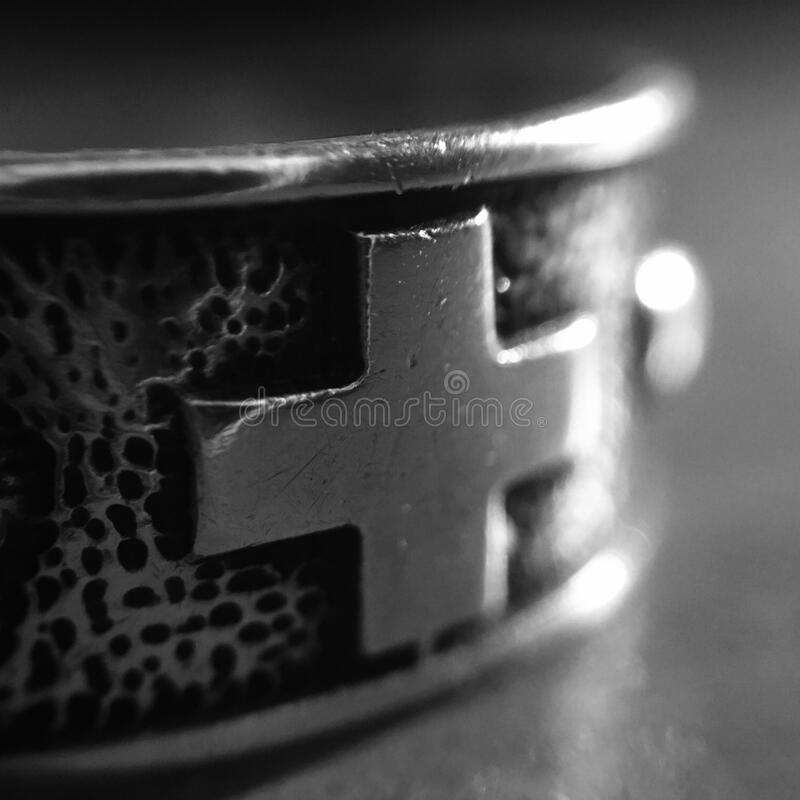 Black And Gray Cross Ring Free Public Domain Cc0 Image