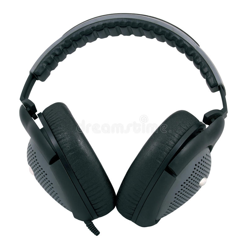 Black And Gray Headphones Stock Images