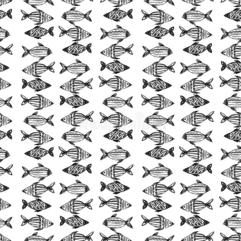 Black gray pattern abstract grunge and splash watercolor beautiful shibori tie dye paint Texture decoration on white background stock illustration