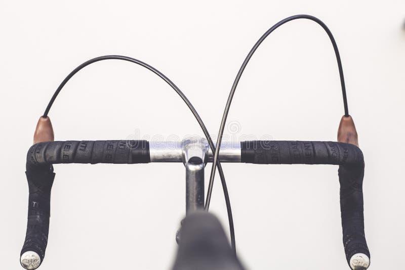 Black and Gray Road Bike Handle stock photo